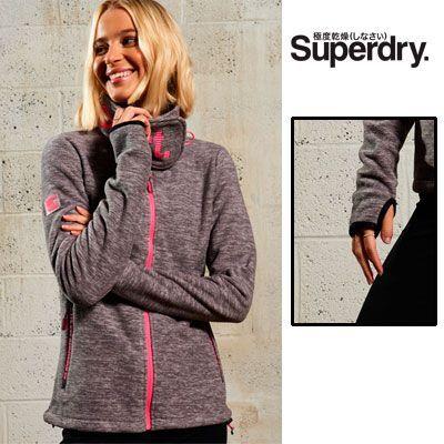 Oferta chaqueta Polar Superdry con cuello cruzado barata en la web oficial