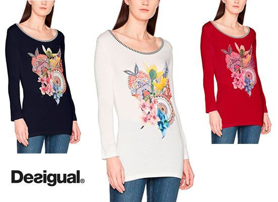 Oferta camiseta Desigual Simba 3 colores baratas amazon, chollos ropa de marca barata amazon