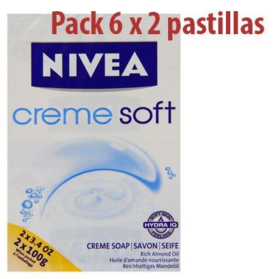 Oferta pack 12 pastillas jabón Nivea Crem Soft de 100 g baratas amazon