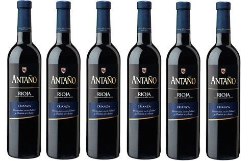 Oferta pack 6 botellas vino tinto Antaño Crianza Rioja barato amazon
