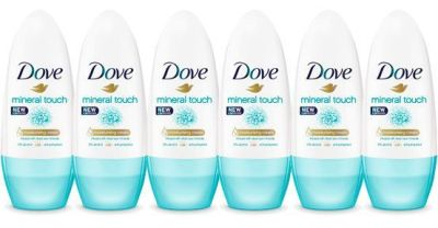 Oferta pack 6 desodorantes Dove Mineral Touch Desodorante Roll On baratos amazon