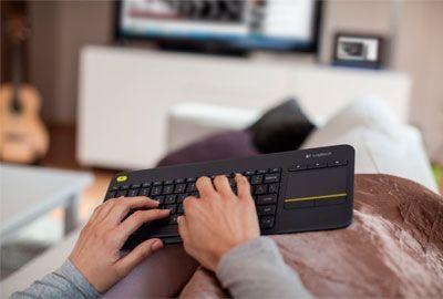 Oferta teclado Logitech k400 Plus barato amazon