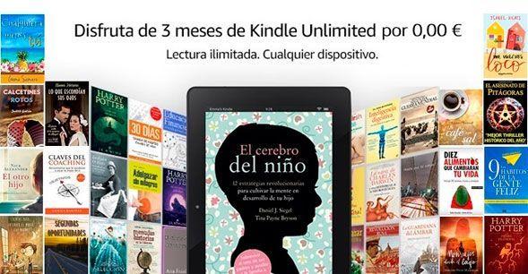 Oferta 3 meses de Kindle Unlimited gratis