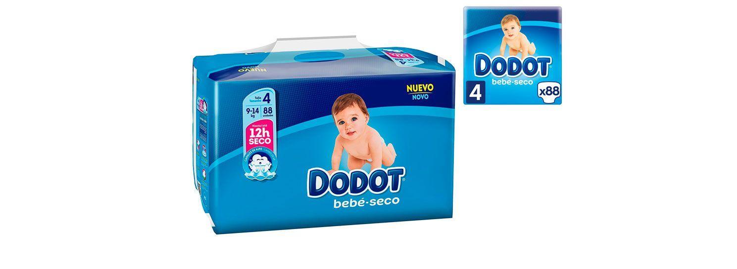 06e50524b641 Oferta pañales Dodot Bebé Seco talla 4 - 88 unidades por solo 13,99 euros.  ¡Mínimo histórico! - Más Que Ofertas