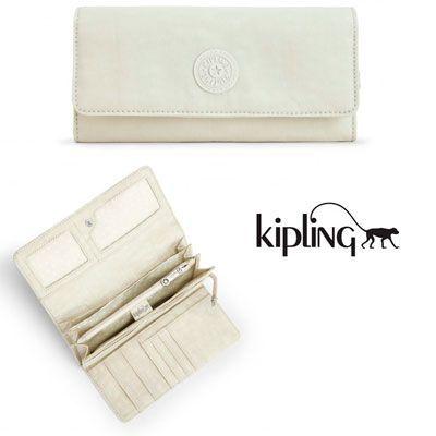 Oferta cartera Kipling Brownie Blanco Tile White barata amazon