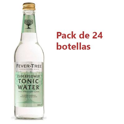 Oferta pack 24 botellas tónica Fever-Tree Elderflower barata amazon