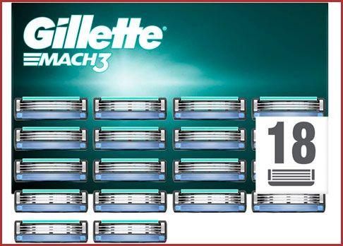 Oferta pack de 18 maquinillas Gillette Mach 3