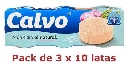 Oferta pack de 30 latas Calvo Atún Claro Al Natural barato amazon