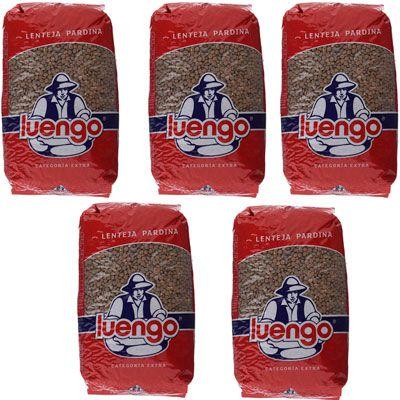 Oferta 5 paquetes de lenteja Pardina Luengo de 1Kg