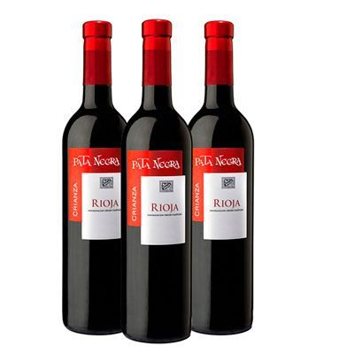Oferta pack 3 botellas vino tinto Pata Negra Crianza Rioja baratas amazon