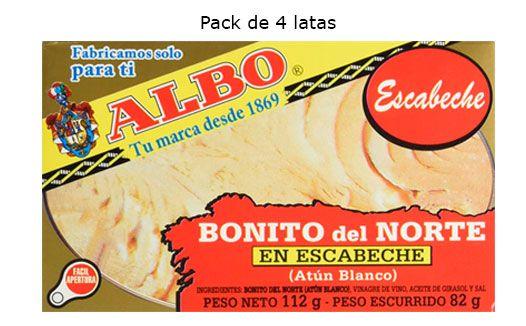 Oferta 4 latas de Albo Bonito del Norte en Escabeche barato amazon