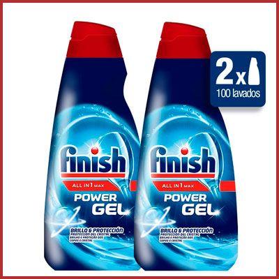 Oferta pack de 2 detergentes para lavavajillas Finish Power Gel barato