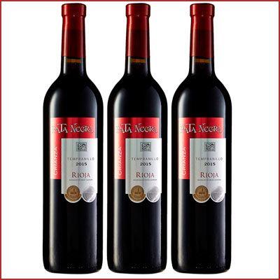Oferta 3 botellas de vino tinto Pata Negra Crianza Rioja