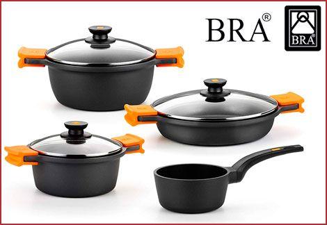 Baterias De Cocina Baratas | Oferta Bateria De Cocina Bra Efficient 4 Piezas Por 119 99 Euros