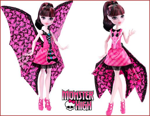Oferta muñeca Monster High Draculaura monstruita murciélago barata