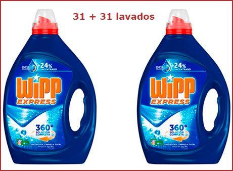 Oferta detergente líquido Wipp Express 62 lavados
