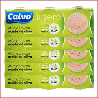 Oferta 15 latas de Atún Claro Calvo Ligero en Aceite de Oliva