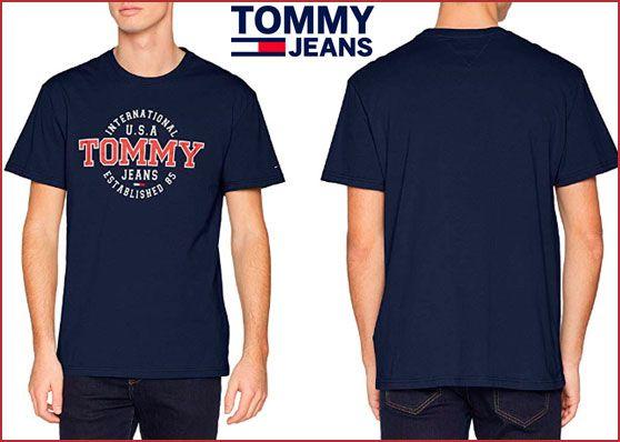 Oferta camiseta Tommy Hilfiger Circular barata, chollos ropa de marca barata amazon