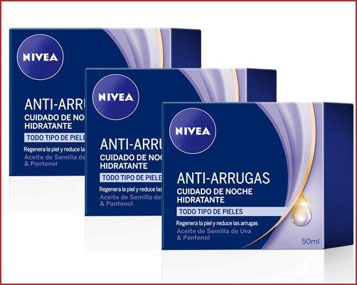 Oferta pack de 3 crema Nivea cuidado de Noche Hidratante Anti-Arrugas