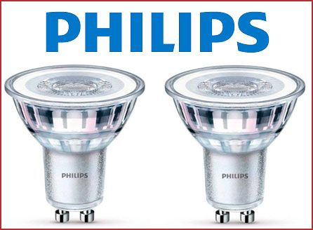 Oferta pack de 2 bombillas Philips LED GU10