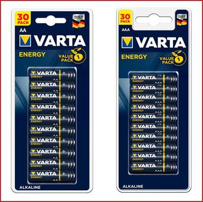 Oferta pack de 30 pilas alcalinas Varta Energy