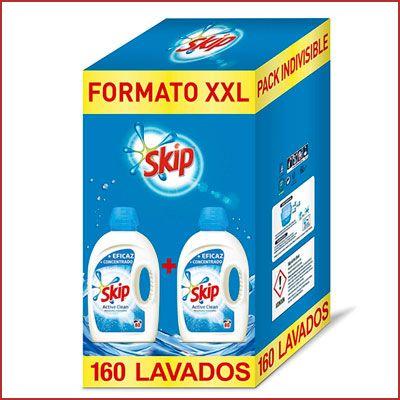 Oferta detergente Skip Active Clean 160 lavados barato