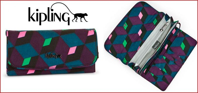 Oferta cartera Kipling Supermoney barata