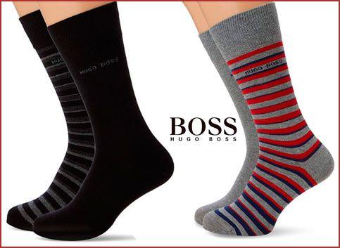 Oferta calcetines Hugo Boss Stripe baratos, chollos ropa de marca barata amazon