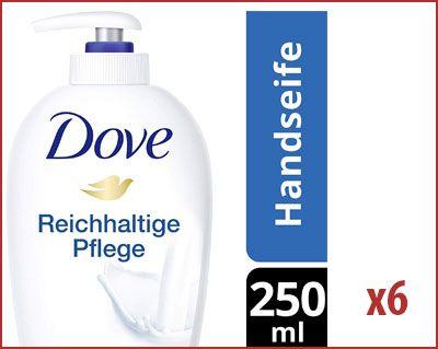 Oferta pack de 6 botes jabón Dove con dosificador barato