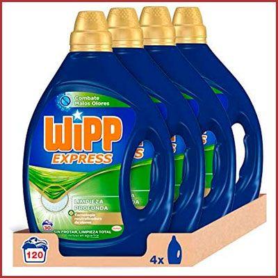 Oferta detergente líquido Wipp Express anti olores 120 lavados barato amazon