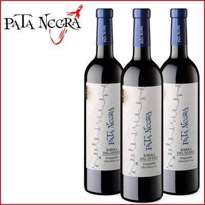 Oferta 3 botellas vino tinto Pata Negra Crianza D.O. Ribera del Duero