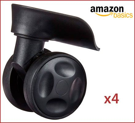 Oferta juego de 4 ruedas giratorias AmazonBasics