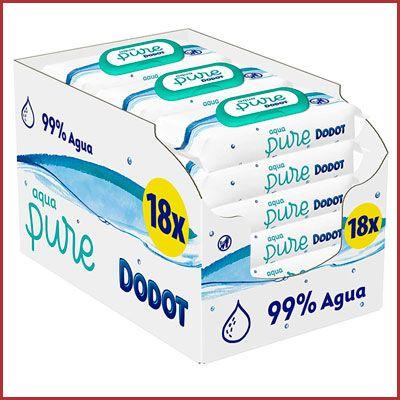 Oferta toallitas Dodot Aqua Pure pack de 18 paquetes
