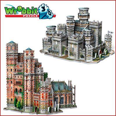 Oferta puzzles 3D juego de tronos Invernalia o Fortaleza Roja