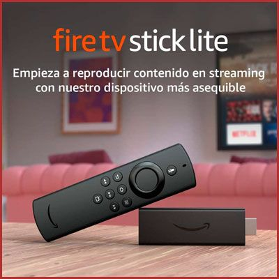 Amazon Fire TV Stick Lite con mando por voz Alexa