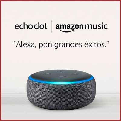 Oferta altavoz inteligente Echo Dot mas amazon music unlimited