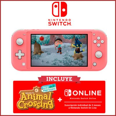 Nintendo Switch Lite Coral barata amazon