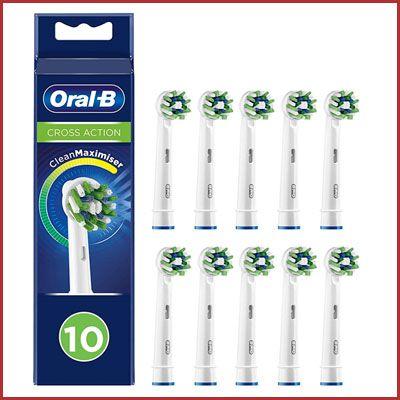 Oferta pack 10 recambios Oral-B Cross Action CleanMaximiser baratos amazon