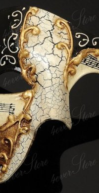 Black Phantom Musical Mask