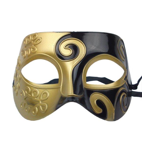 Men's Gold Black Mask