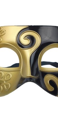Men's Gold Black Mask
