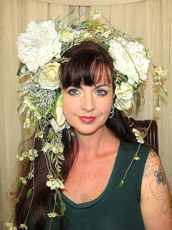 "alt=""persephone spring costume headpiece"
