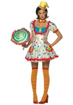 "alt=""sexy womens clown costume"