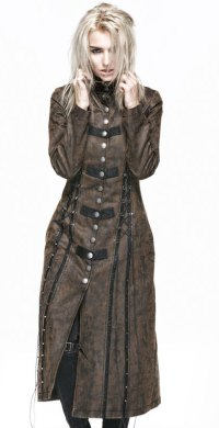 "Alt=""punk rave gothic women's coat"""
