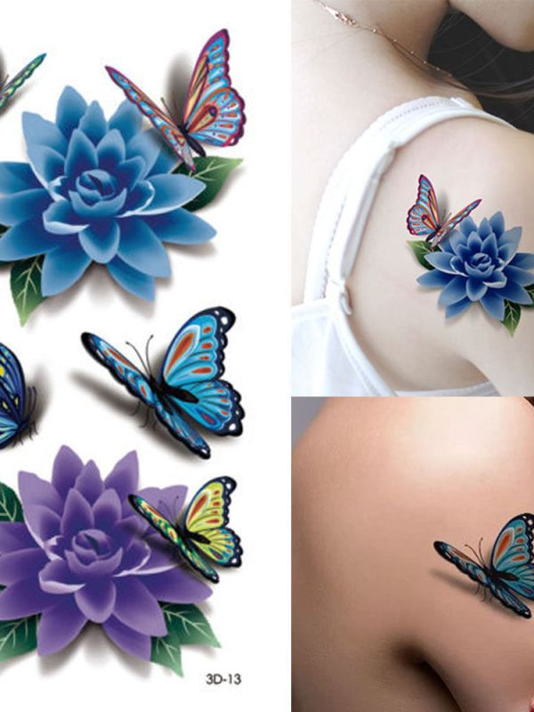 "alt=""sexy flower rose tattoo stickers"""