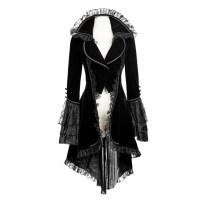 "alt=""black gothic women's jacket cosplay costume"""