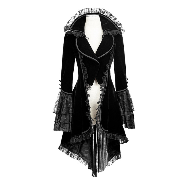 "alt=""black gothic women's jacket cosplay costume"""