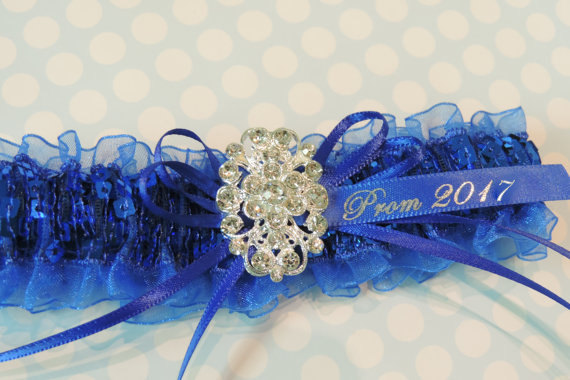 "alt=""prom royal blue garter"""