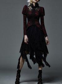 """alt=""""red vintage punk rave gothic dress coat"""""""