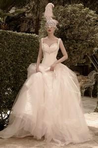 Wedding dress for masquerade wedding